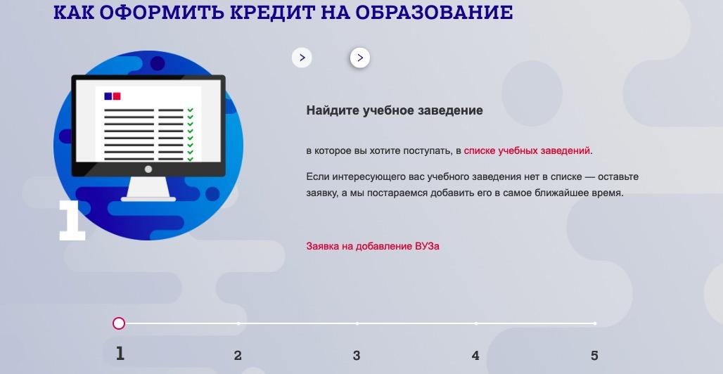 Почта Банк кредит на образование оформить