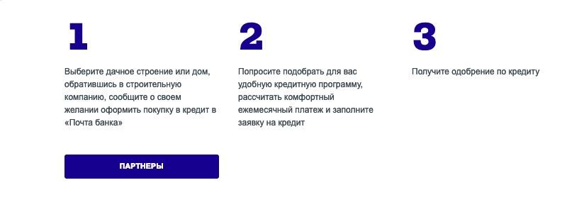 Почта Банк ипотека оформить